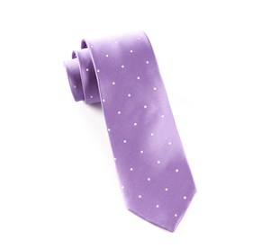 Lavender Satin Dot ties