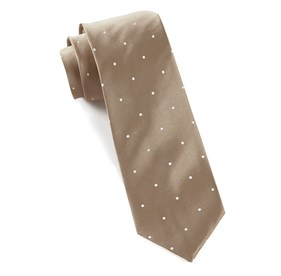 Champagne Satin Dot ties