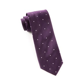 Eggplant Satin Dot ties