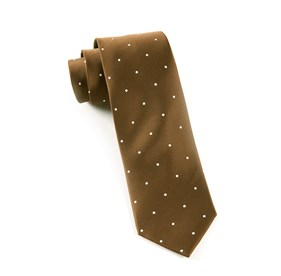 Chocolate Satin Dot ties