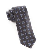 Ties - Excalibur Medallion - Charcoal