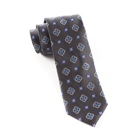 Charcoal Excalibur Medallion ties