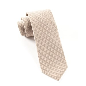 wool herringbone khaki ties