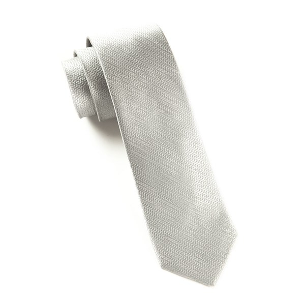 Silver Static Solid Tie