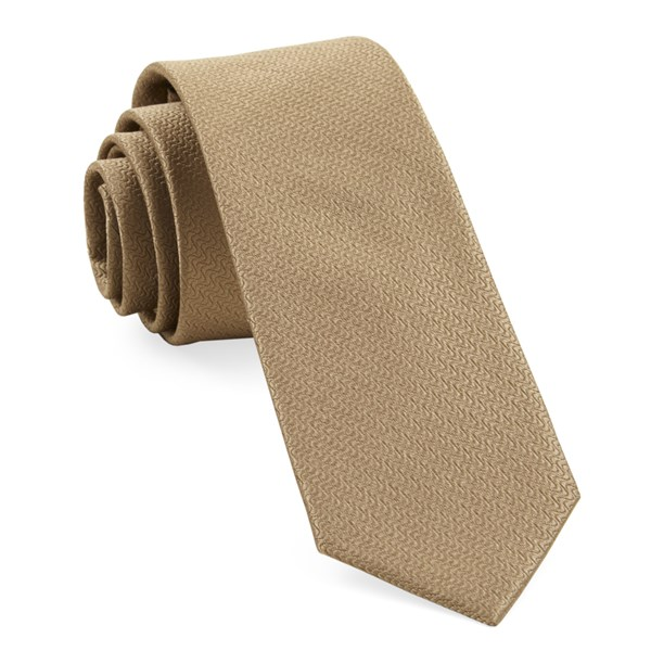 Tan Static Solid Tie