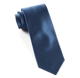Navy Static Solid ties