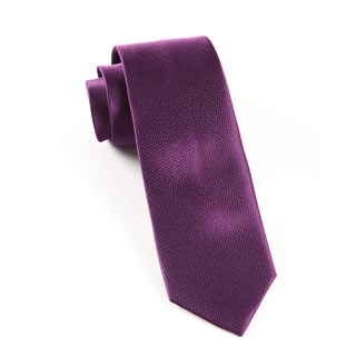 static solid plum ties