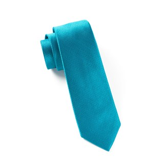 Static Solid Teal Tie