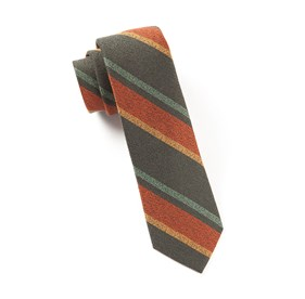 Grit Stripe Deep Army Green Ties