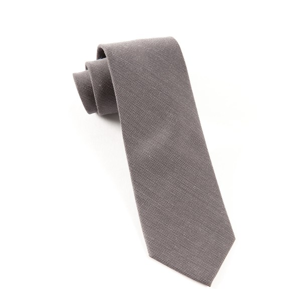 Grey Downtown Solid Tie