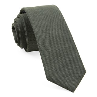 Downtown Solid Army Green Tie