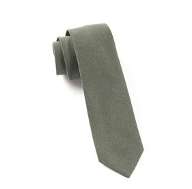 Downtown Solid Army Green Ties