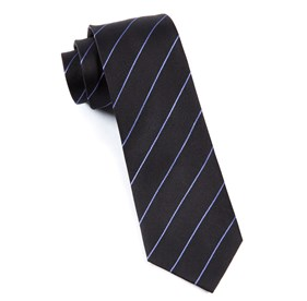 Black Pencil Pinstripe ties