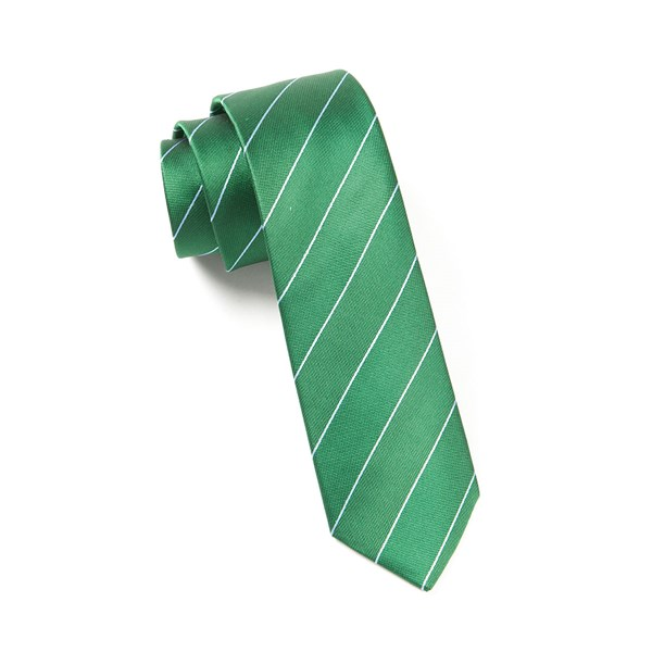 Emerald Green Pencil Pinstripe Tie