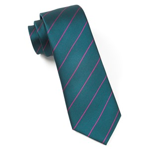 pencil pinstripe green teal ties