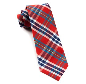Elwood Plaid Apple Red Ties