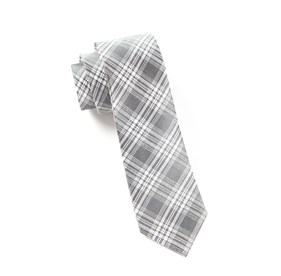 Silver Reflection Plaid ties
