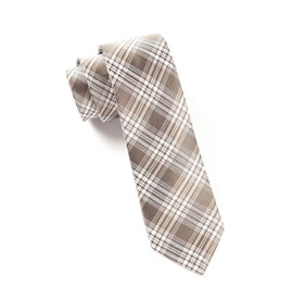 Reflection Plaid Champagne Ties