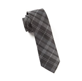Bohemian Plaid Black Ties