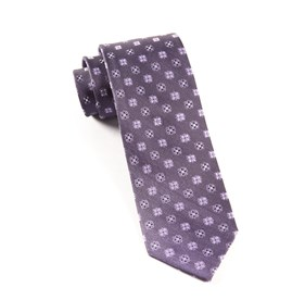 Eggplant Juneberry ties