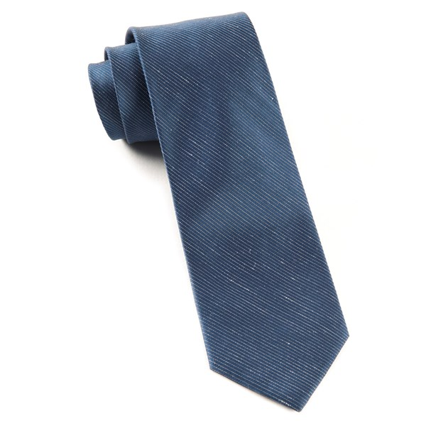 Navy Fountain Solid Tie