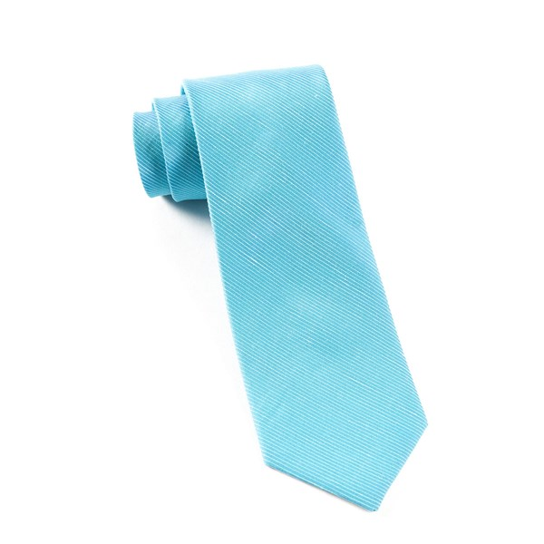 Ocean Blue Fountain Solid Tie