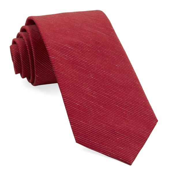 Red Fountain Solid Tie