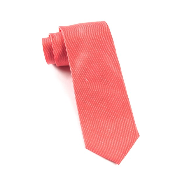 Coral Fountain Solid Tie