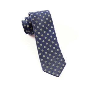 Navy Half Moon Floral boys ties