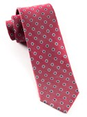 Ties - Half Moon Floral - Red