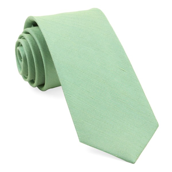 Apple Green Sand Wash Solid Tie