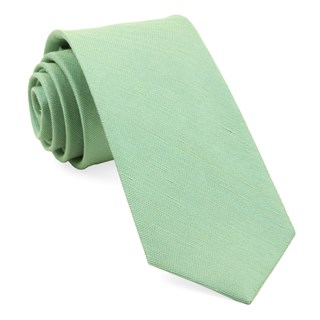 Sand Wash Solid Apple Green Tie