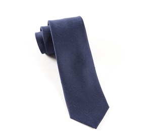Navy Sand Wash Solid ties