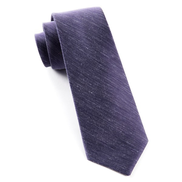 Deep Purple Sand Wash Solid Tie