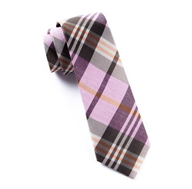 Pink Crystal Wave Plaid ties