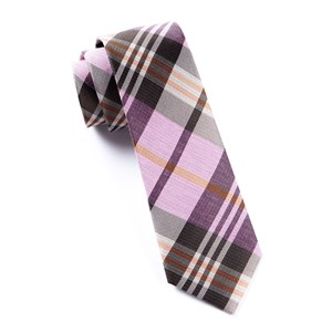 crystal wave plaid pink ties