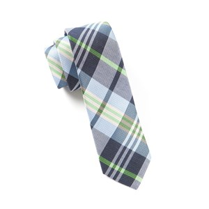 crystal wave plaid navy boys ties