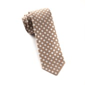 Ties - Cherry Beach Dots - Champagne