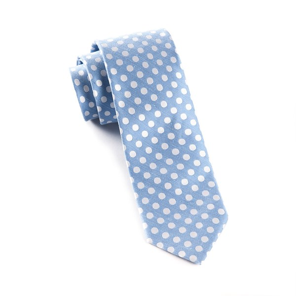 Light Blue Cherry Beach Dots Tie
