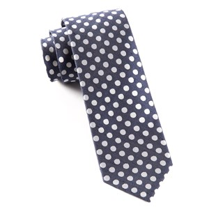 cherry beach dots navy ties