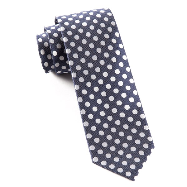 Navy Cherry Beach Dots Tie