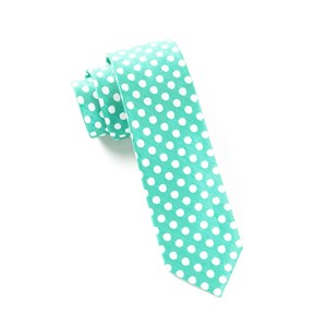 cherry beach dots mint ties