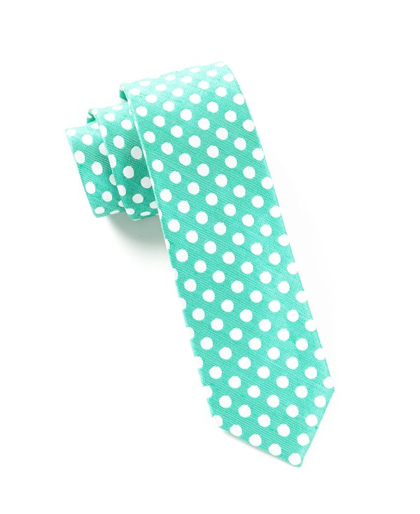 Cherry Beach Dots Mint Tie