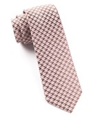 Ties - White Wash Houndstooth - Soft Pink