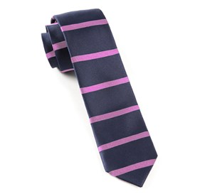 Navy Road Horizontal Stripe ties