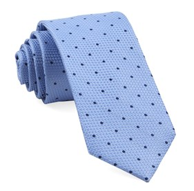 Light Blue Grenafaux Dots ties