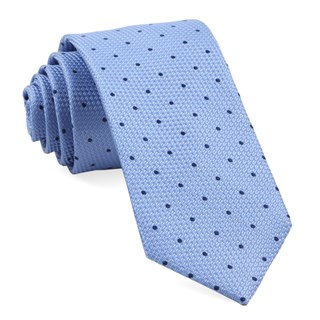 grenafaux dots light blue ties