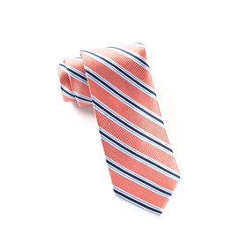 Bella Stripe Coral Ties