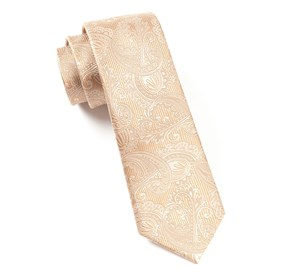 Light Brown Twill Paisley boys ties