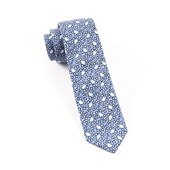 Ties - Calico Flower - Egyptian Blue